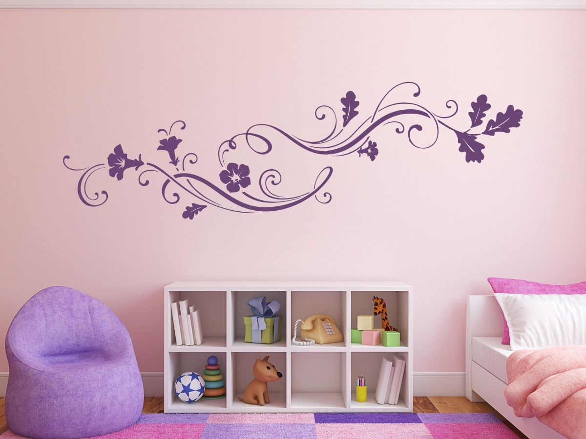 wandtattoo ornament blumen online bestellen im shop. Black Bedroom Furniture Sets. Home Design Ideas