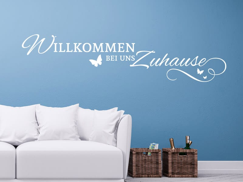 wandtattoo willkommen zuhause online bestellen im shop. Black Bedroom Furniture Sets. Home Design Ideas