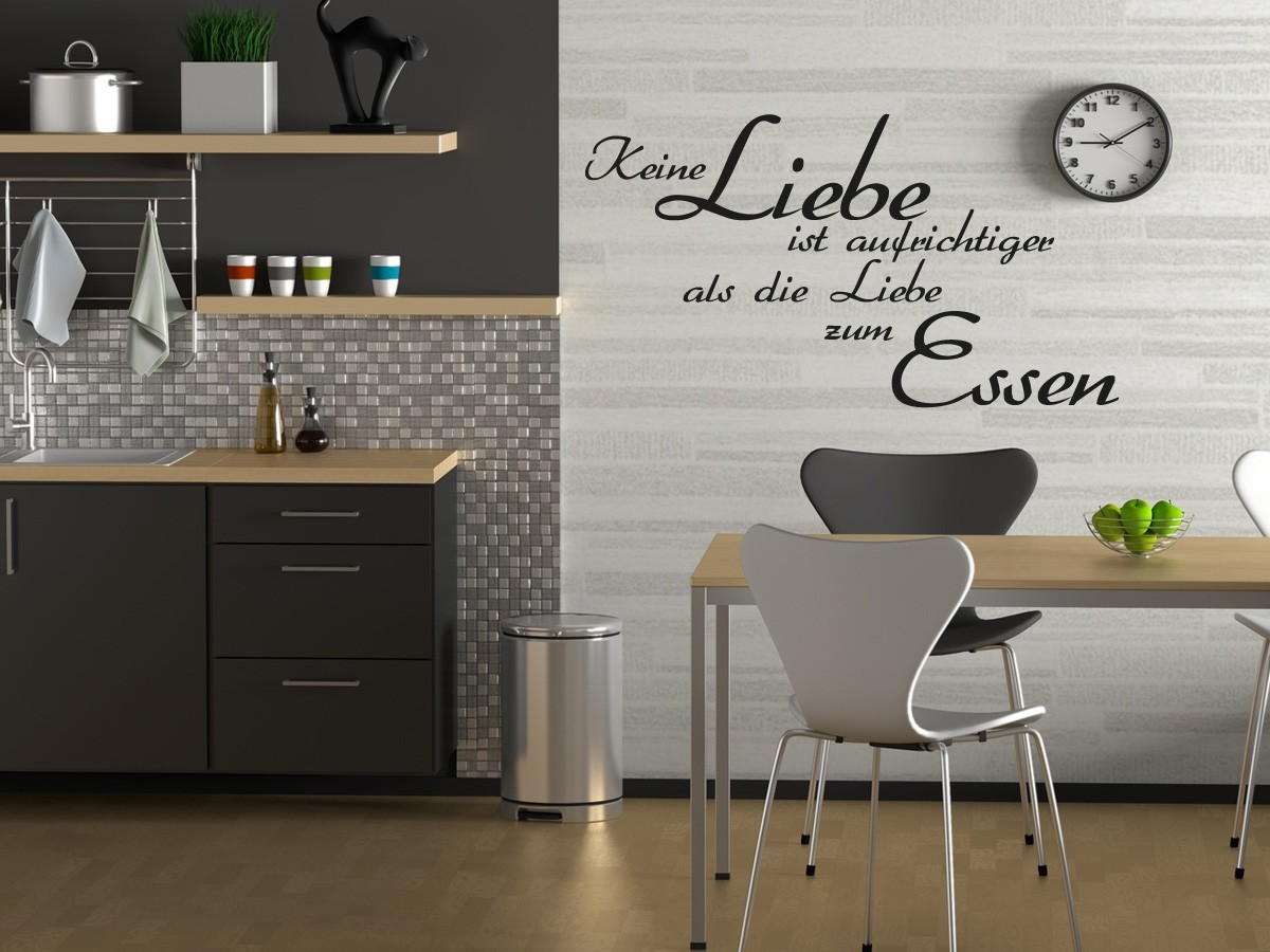 essen trinken spr che wandtattoo online bestellen im shop. Black Bedroom Furniture Sets. Home Design Ideas