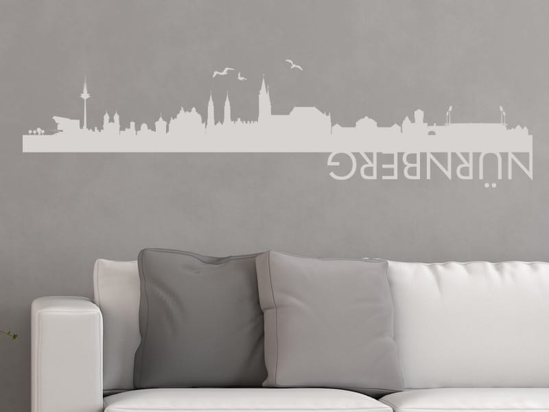 wandtattoo skyline n rnberg online bestellen im shop. Black Bedroom Furniture Sets. Home Design Ideas