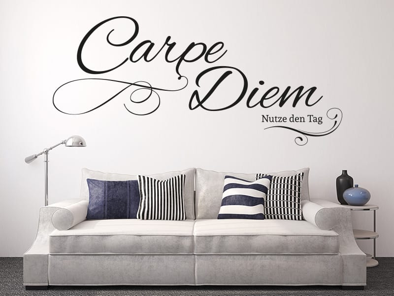 wandtattoo carpe diem online bestellen im shop. Black Bedroom Furniture Sets. Home Design Ideas